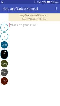 Status Updater Note app poster