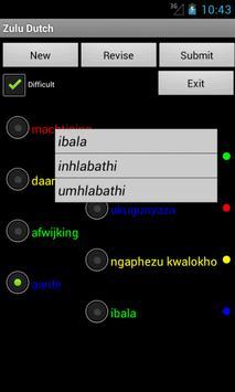 Zulu Dutch Dictionary apk screenshot
