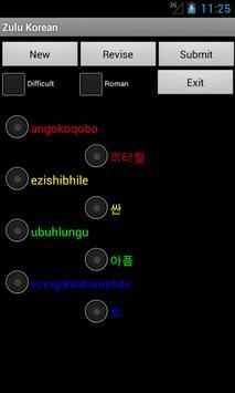 Zulu Korean Dictionary apk screenshot