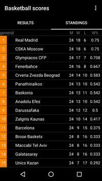 Basketball Live for EuroLeague apk screenshot