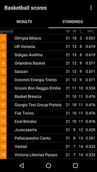 Italian Basketball Scores screenshot 1