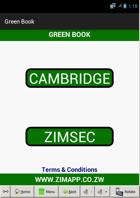Green Book Zimsec Cambridge for Android - APK Download