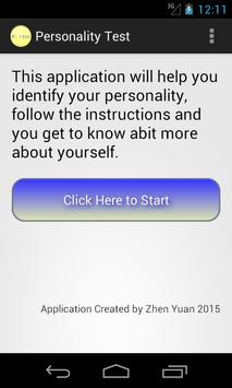 Personality Test By ZY screenshot 1