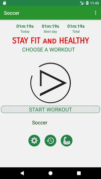 Soccer Training Workout poster