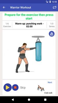 Warrior Training Workout apk screenshot