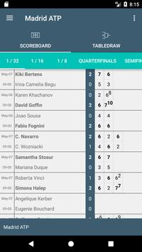 Scores for Tennis Madrid Open screenshot 1