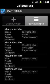 WinZEIT Mobile screenshot 4