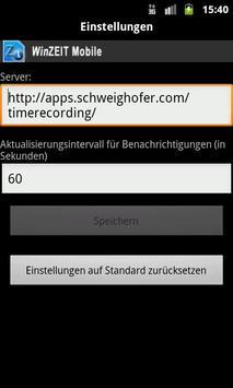 WinZEIT Mobile screenshot 1
