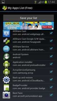 My Apps List (Free) screenshot 2