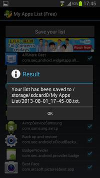My Apps List (Free) screenshot 3