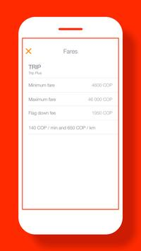 TRIP User: easy way to get taxi rides in Colombia screenshot 2