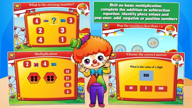 Second Grade Games: Circus Fun screenshot 1