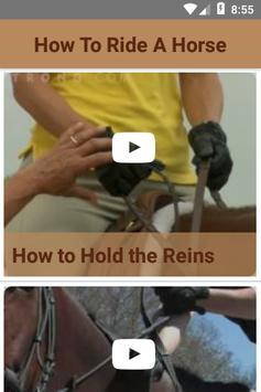How To Ride A Horse poster