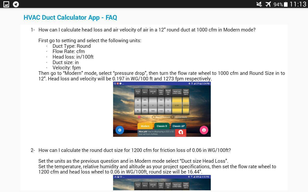 HVAC Duct Calculator for Android - APK Download