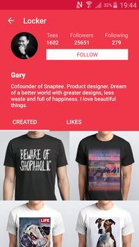 T-shirt design - Snaptee screenshot 5
