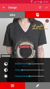 T-shirt design - Snaptee screenshot 3