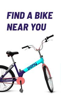 Pony - bike & scooter sharing poster