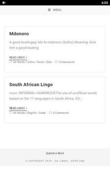 SA Lingo Lite screenshot 4