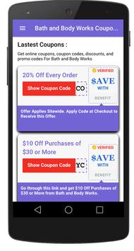 Coupons for Bath and Body Works screenshot 1