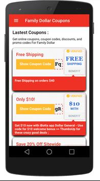 Smart coupons for Family Dollar poster