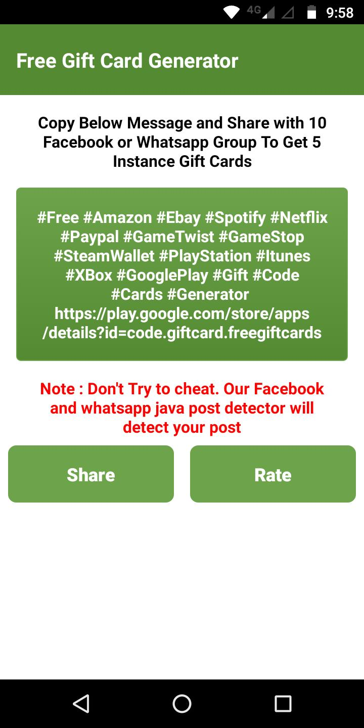 Free Gift Card Generators for Android - APK Download