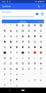 Type Droid (1000+ symbols) Ekran Görüntüsü 2