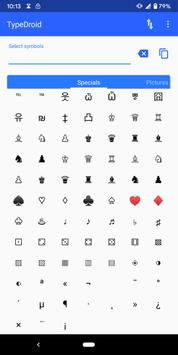 Type Droid (1000+ symbols) Ekran Görüntüsü 8