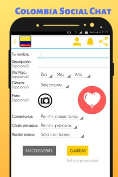 Colombia Social Chat - Meet and Chat with singles screenshot 1