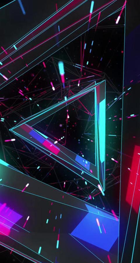 Colorful Geometric Neon Space Live Wallpaper For Android