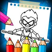 Teen Coloring Titans GO