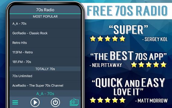 Free 70s Radio screenshot 5