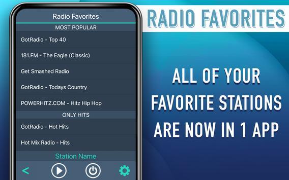 Radio Favorites 스크린샷 5