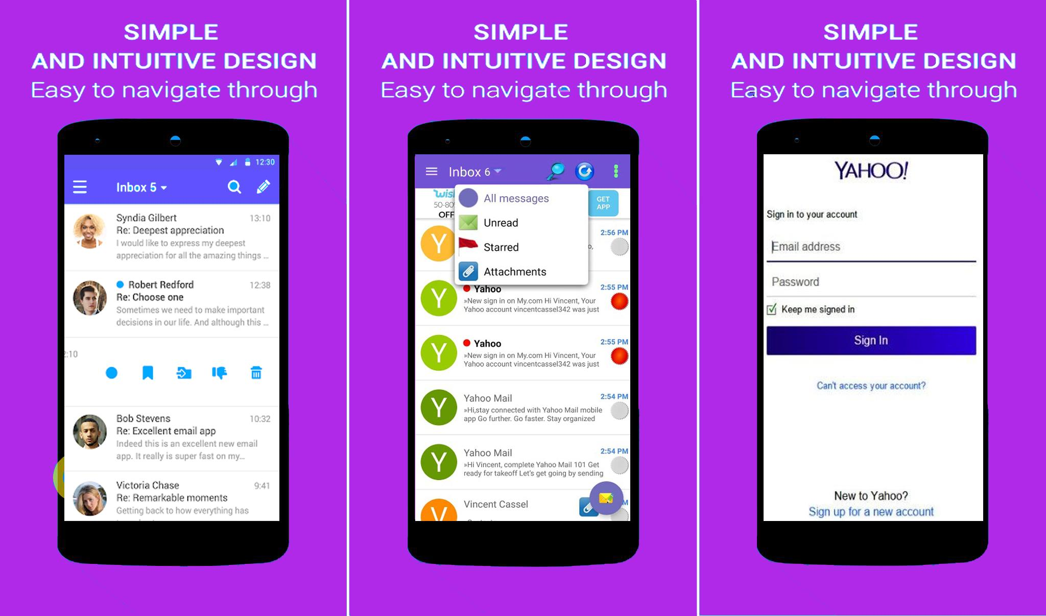 Email App YAHOO Mail Mobile Login for Android - APK Download