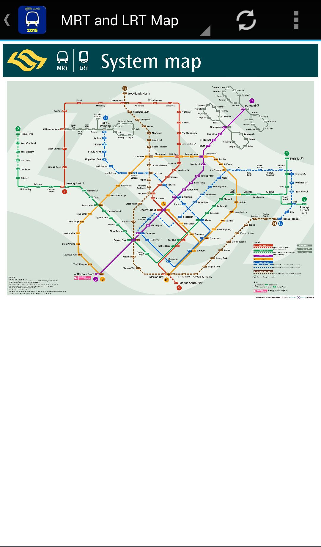 Singapore Subway Map 2014.Singapore Mrt Map 2019 Latest For Android Apk Download