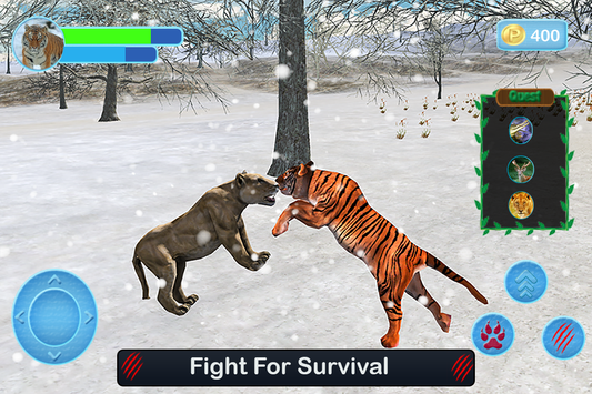 Wild White Tiger: Jungle Hunt screenshot 10