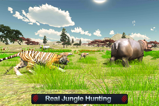 Wild White Tiger: Jungle Hunt screenshot 12