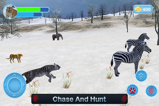 Wild White Tiger: Jungle Hunt screenshot 3