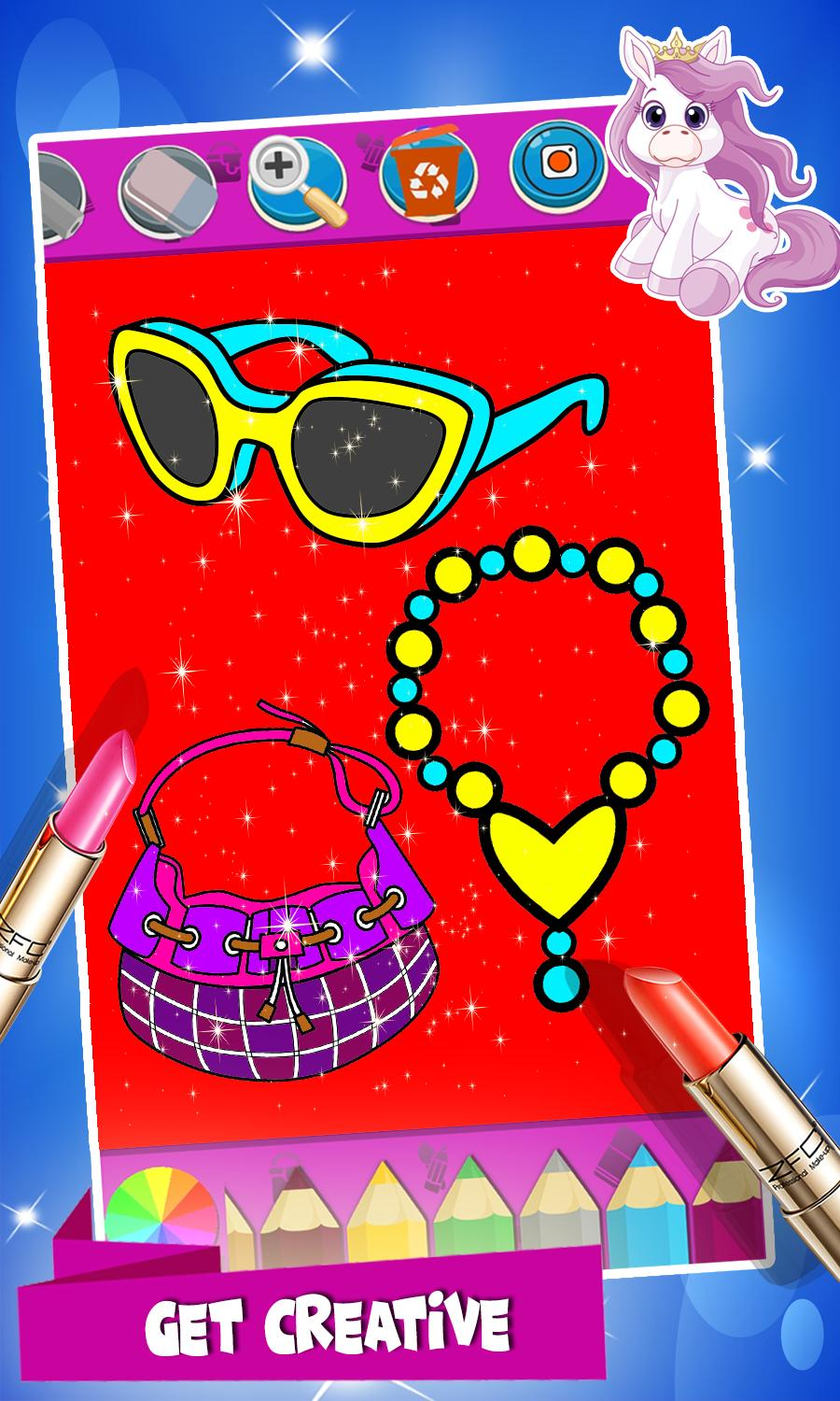 Beauty MakeUp lipstick Coloring Pages for Android - APK Download