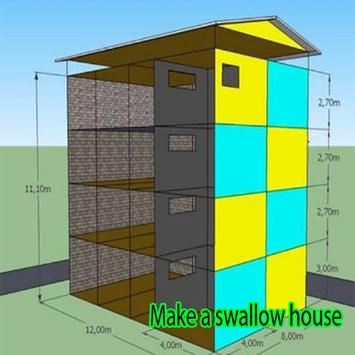 Make a swallow house poster