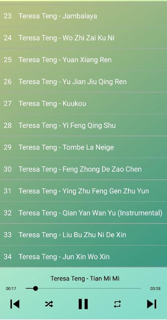 Teresa Teng Songs Mp3 for Android - APK Download