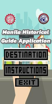 Manila Historical Guide Application poster