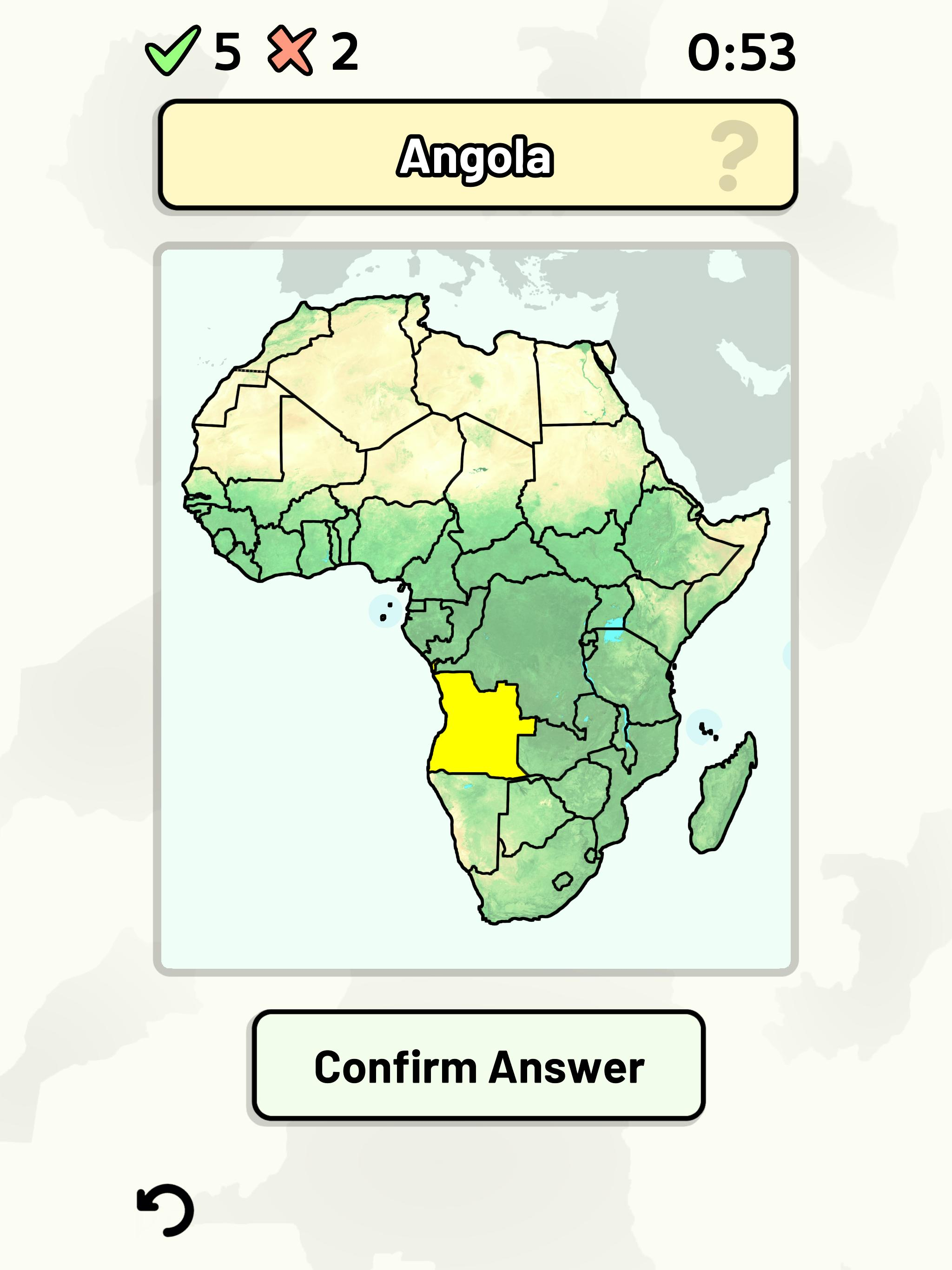 Map Of Africa Countries Quiz.Countries Of Africa Quiz For Android Apk Download
