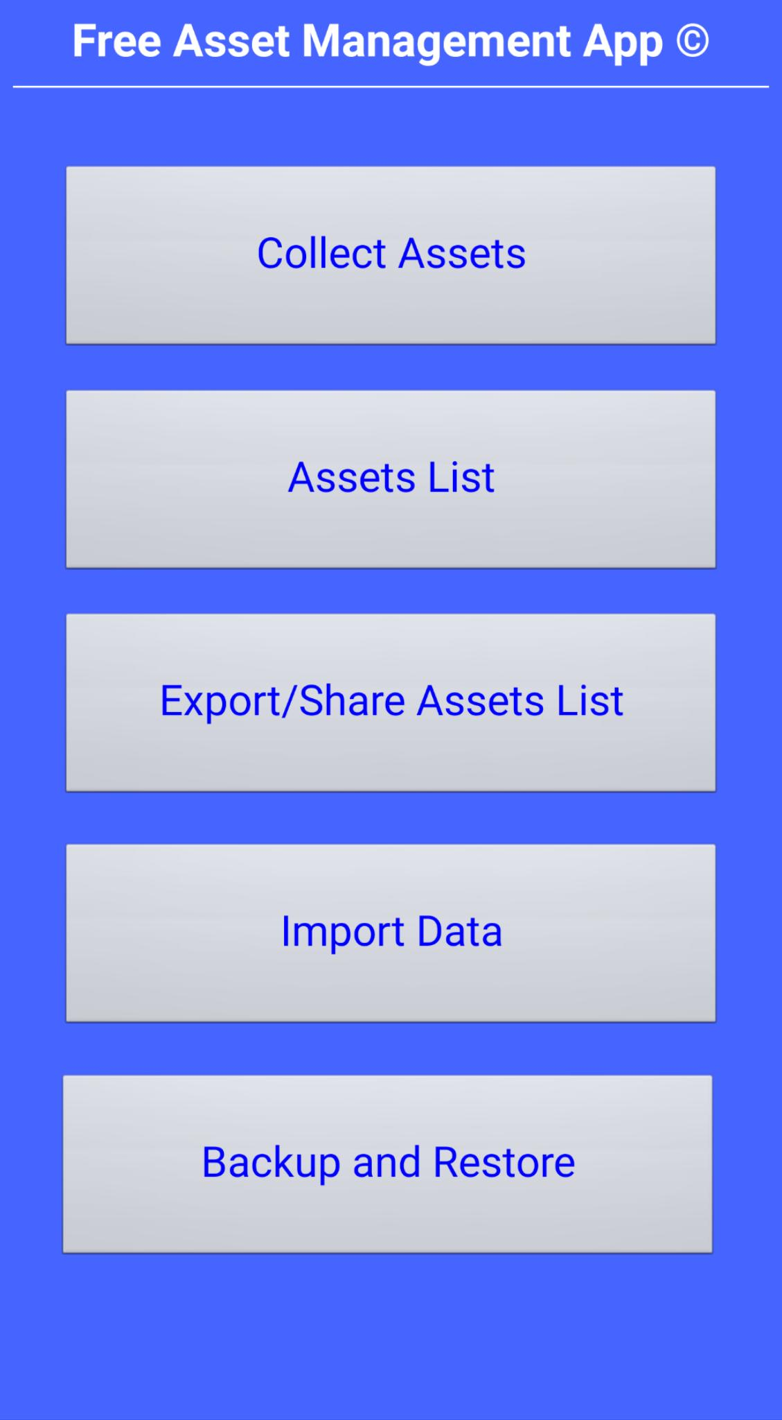 Free Asset Management App for Android - APK Download