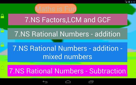 Seventh Grade Kids Math Guru-L screenshot 1