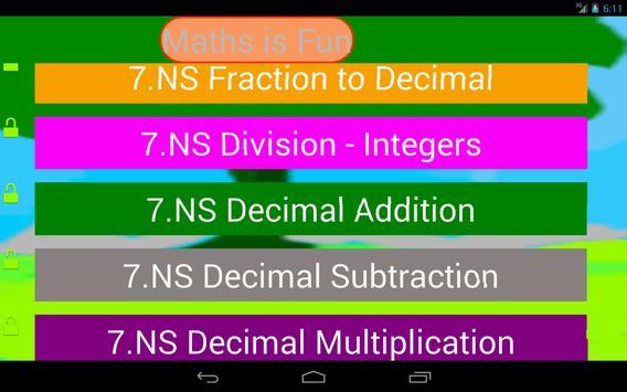 Seventh Grade Kids Math Guru-L screenshot 3