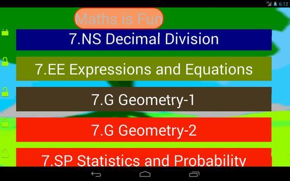 Seventh Grade Kids Math Guru-L screenshot 4