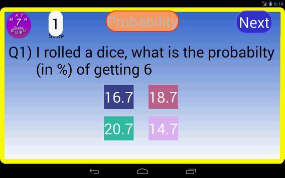 Seventh Grade Kids Math Guru-L screenshot 6
