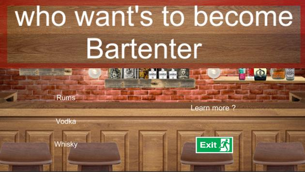 Who want's to become Bartender poster