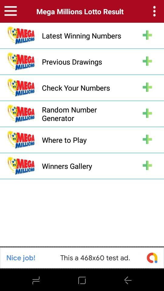 Mega Millions Lottery Result for Android - APK Download