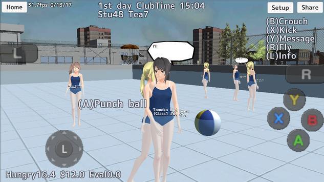 School Girls Simulator captura de pantalla 14